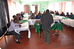 Leaders of Gitegi and Nganyuthe local churches during training in sustainable agriculture at caritas Nyeri.