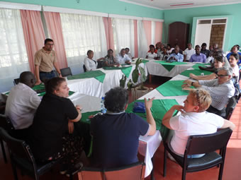 Caritas Foligno Delegation being introduced to the staff of Caritas Nyeri.
